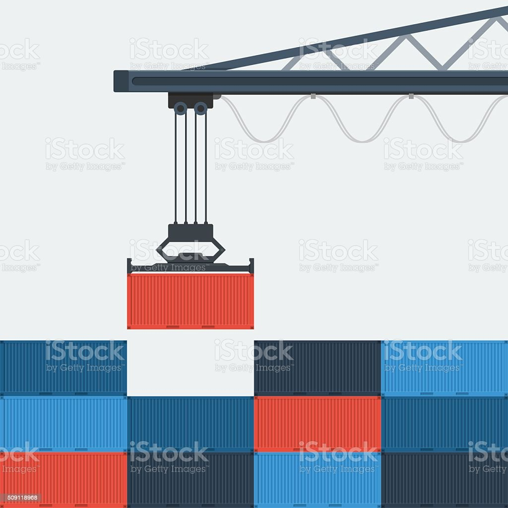 Container Shipping. vector art illustration