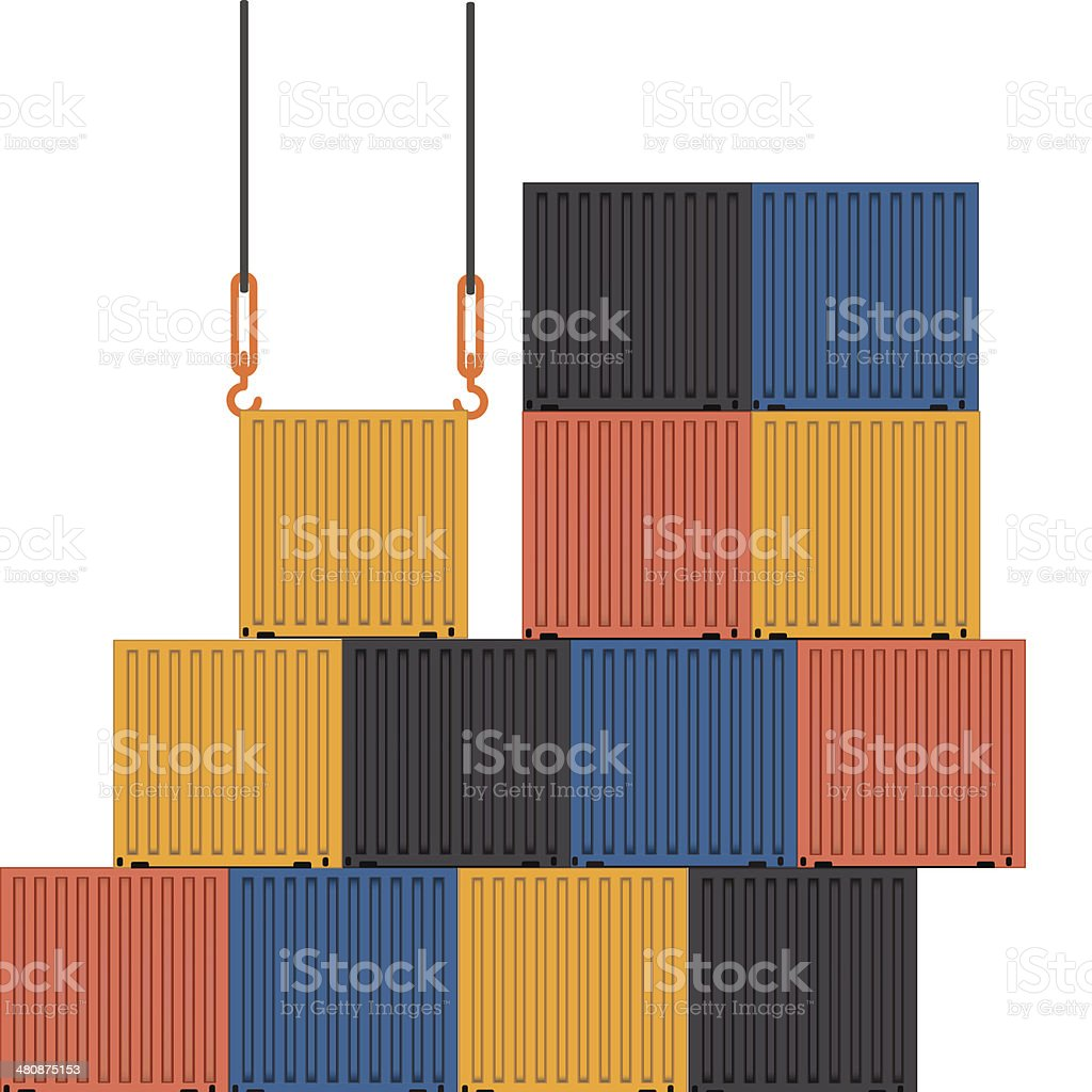 Containers royalty-free stock vector art
