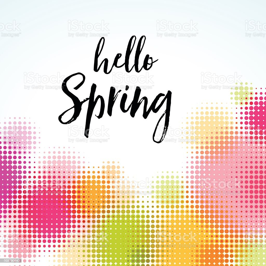 Contemporary Abstract Spring Background vector art illustration