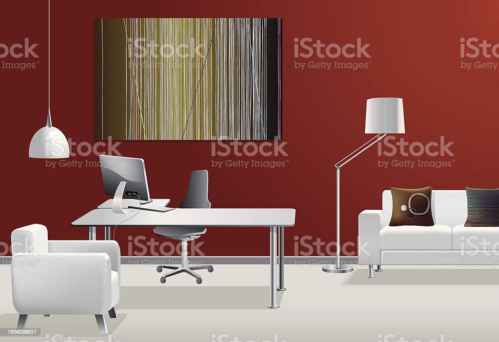 Contemporary office royalty-free stock vector art