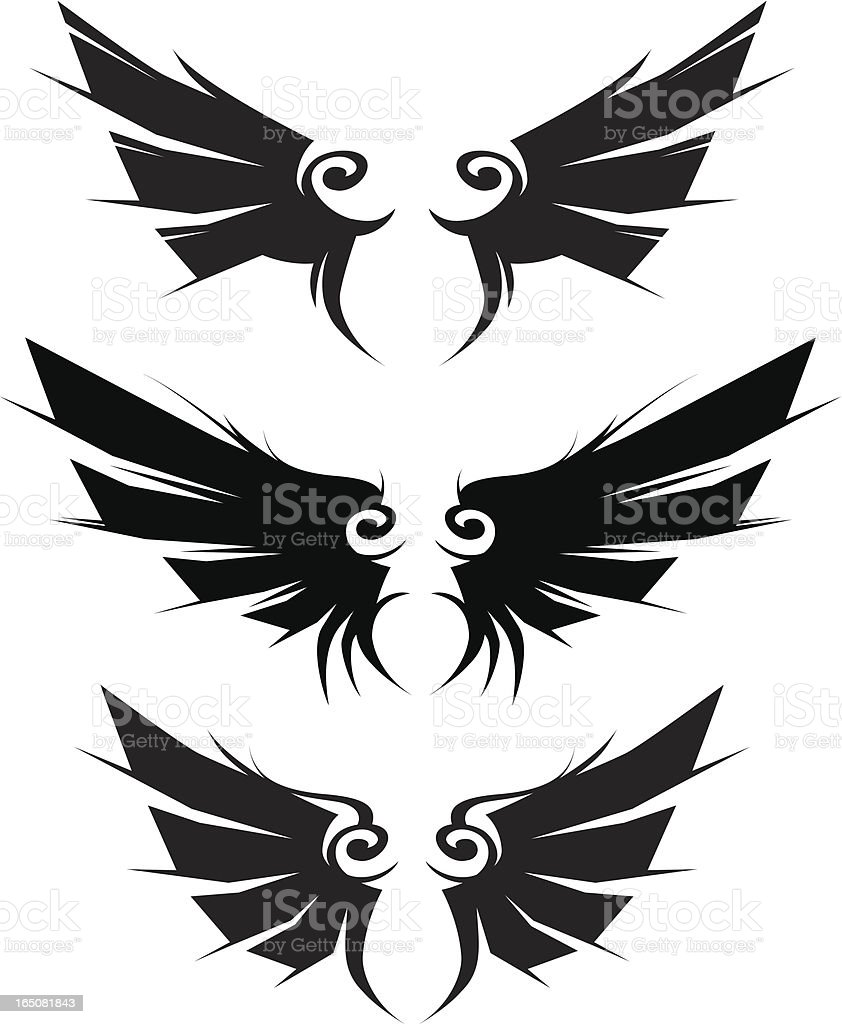 contempt wings royalty-free stock vector art
