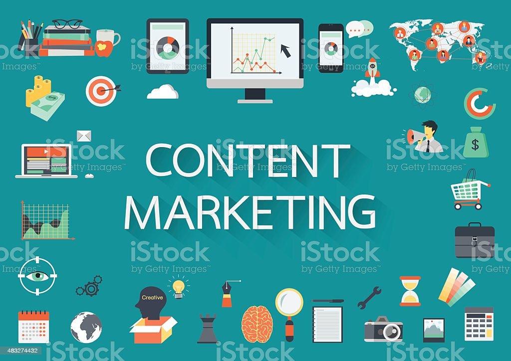 content marketing vector art illustration