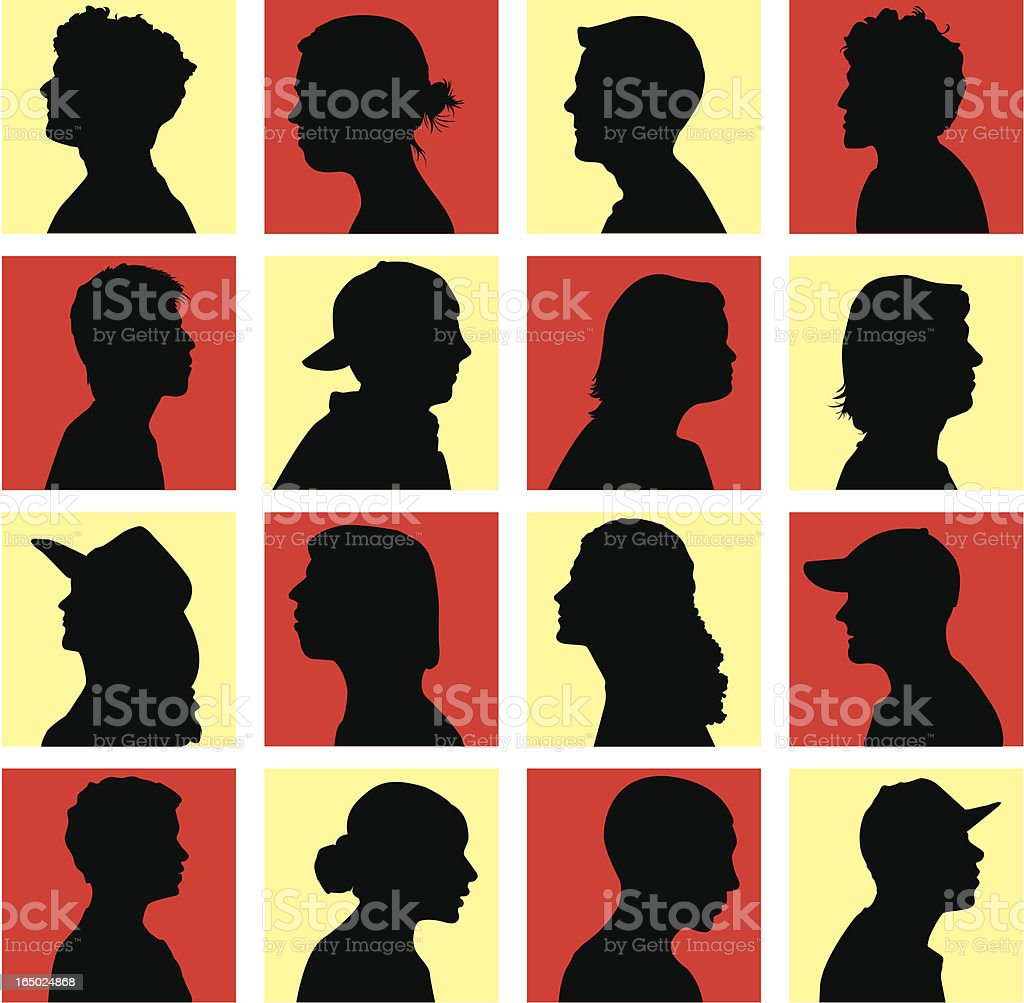 Contestants or Mystery Guests ( Vector ) royalty-free stock vector art