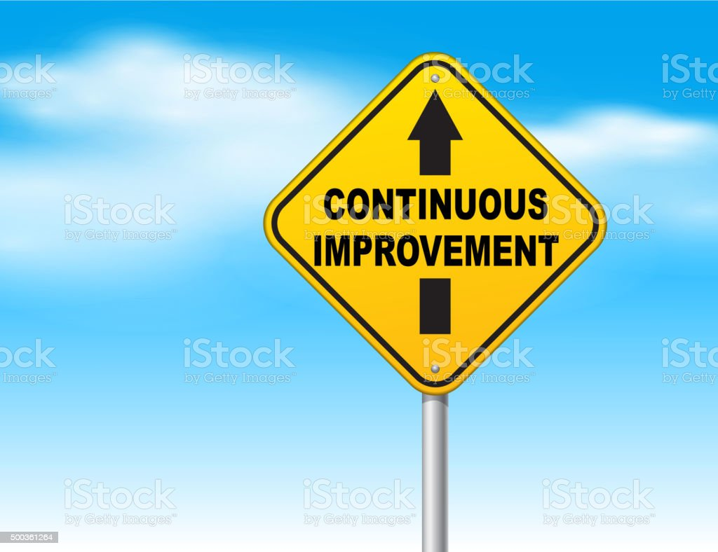 Continuous improvement vector art illustration
