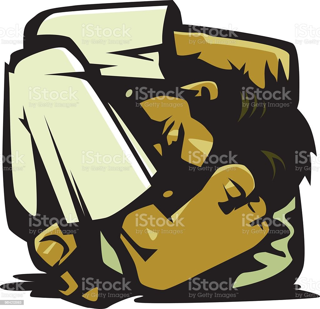Contortion royalty-free stock vector art