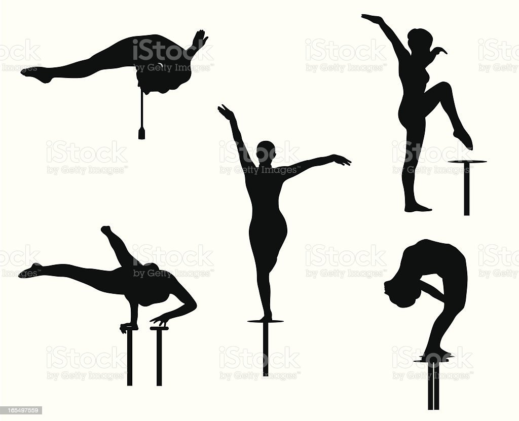 Contortionist Vector Silhouette royalty-free stock vector art