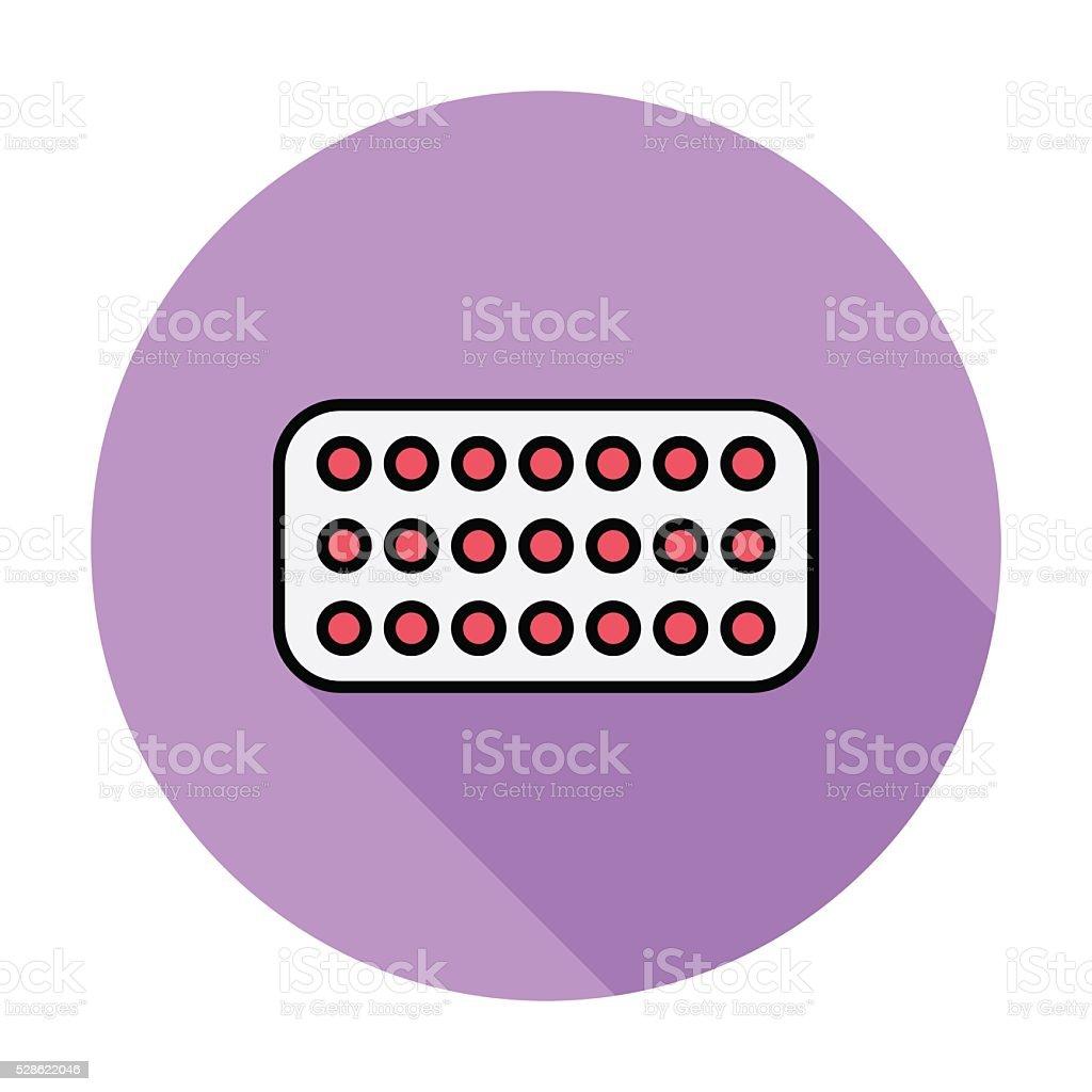 Contraceptive pills vector art illustration