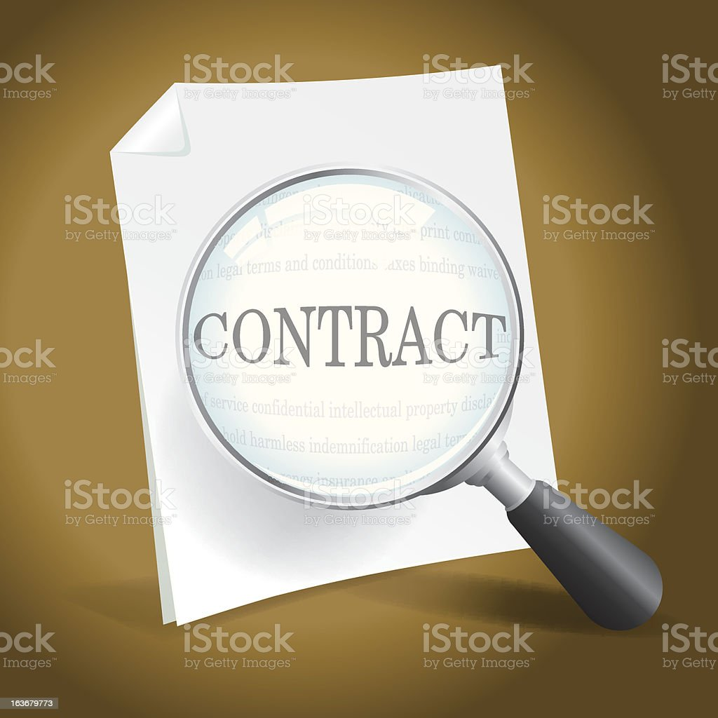 Contract Examination royalty-free stock vector art