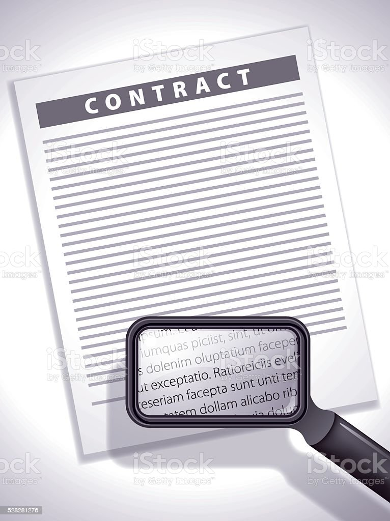 Contract Examination vector art illustration