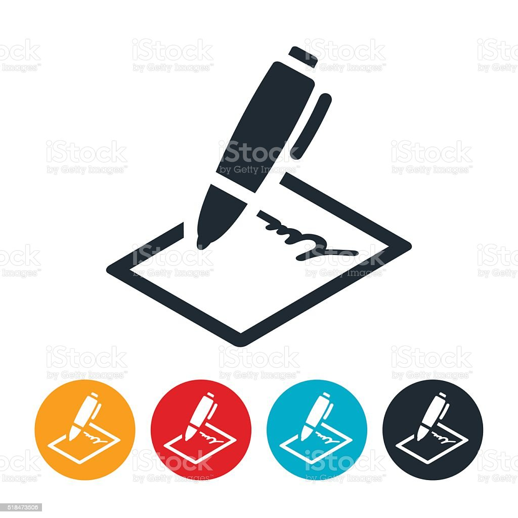 Contract Icon vector art illustration