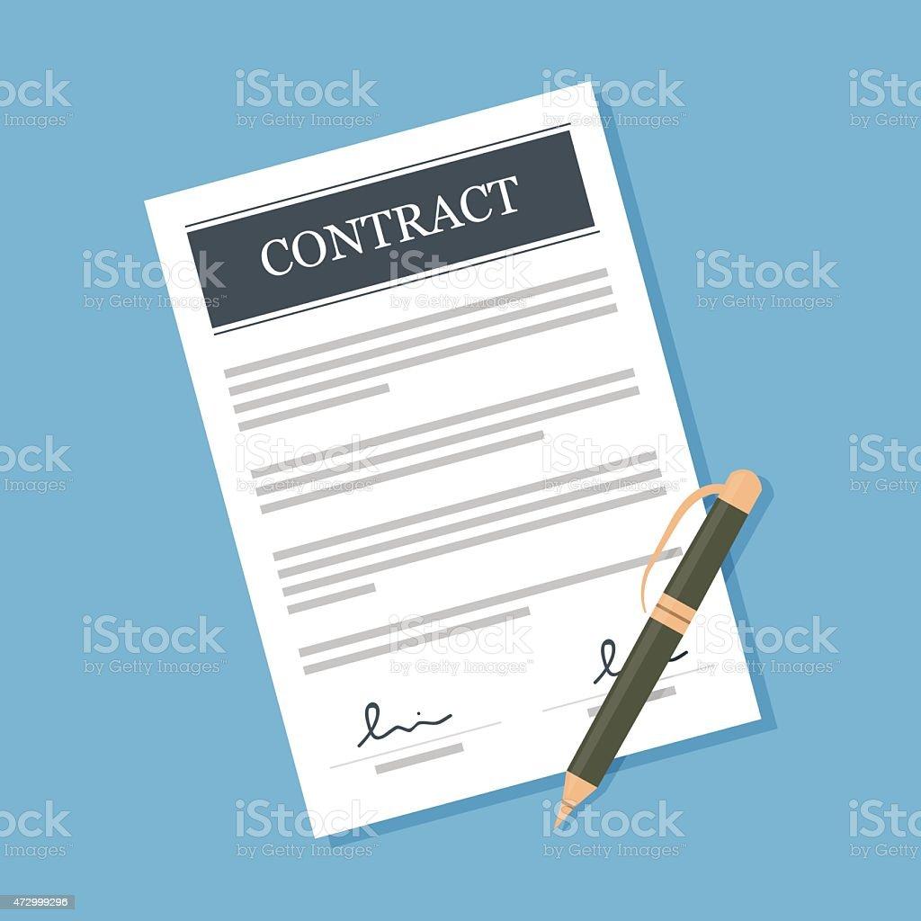 Contract vector art illustration