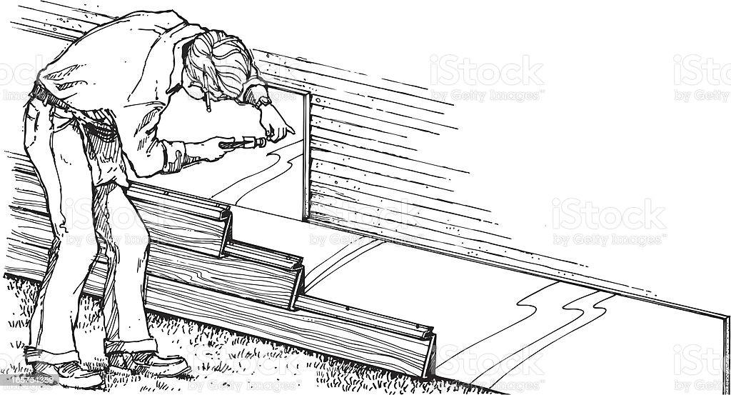 Contractor 2 royalty-free stock vector art