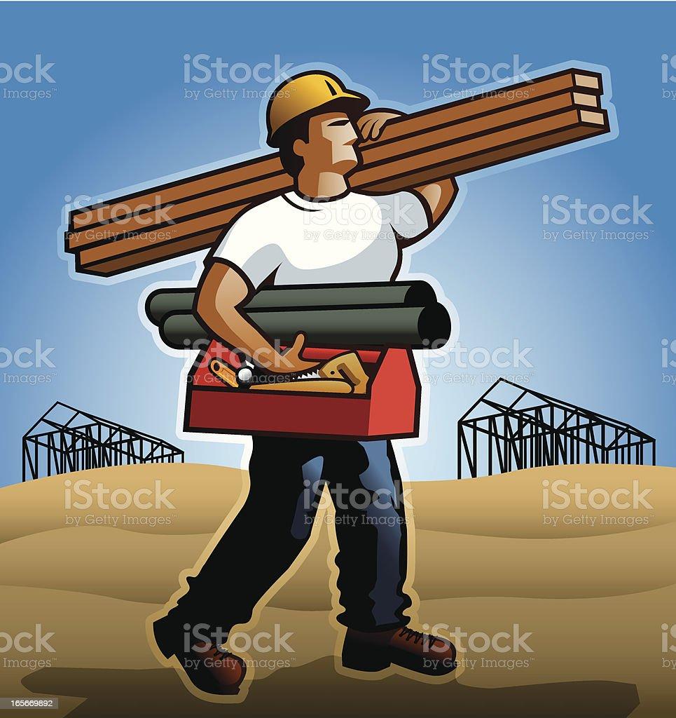 Contractor vector art illustration