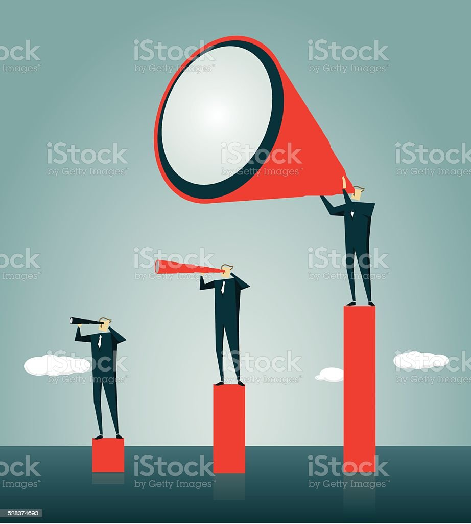 Contrasts, Recruitment, Individuality, Employment Issues vector art illustration