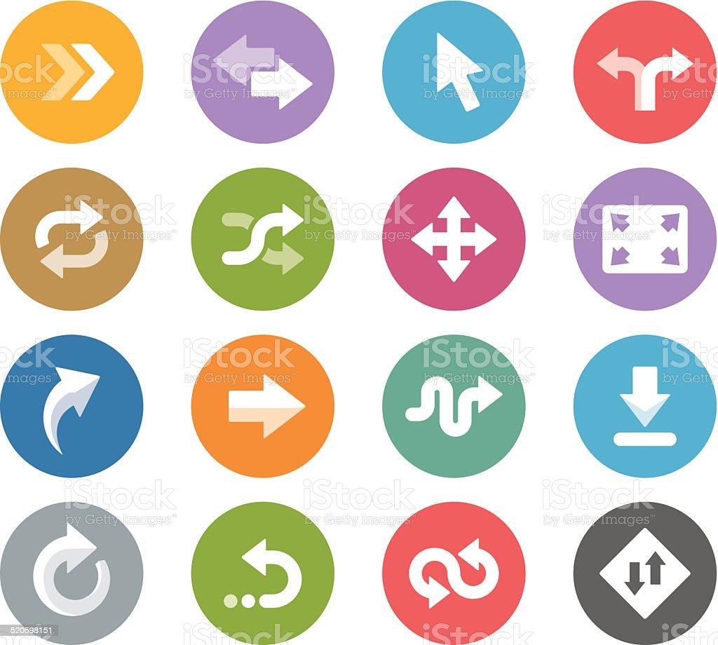 Control Arrows / Wheelico icons vector art illustration