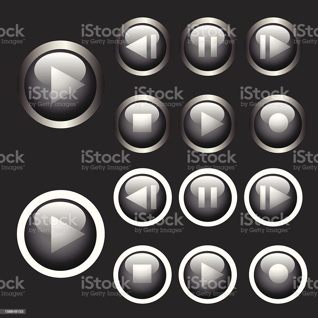 control player buttons royalty-free stock vector art