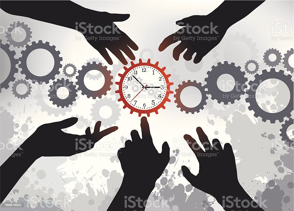 Control the Time royalty-free stock vector art