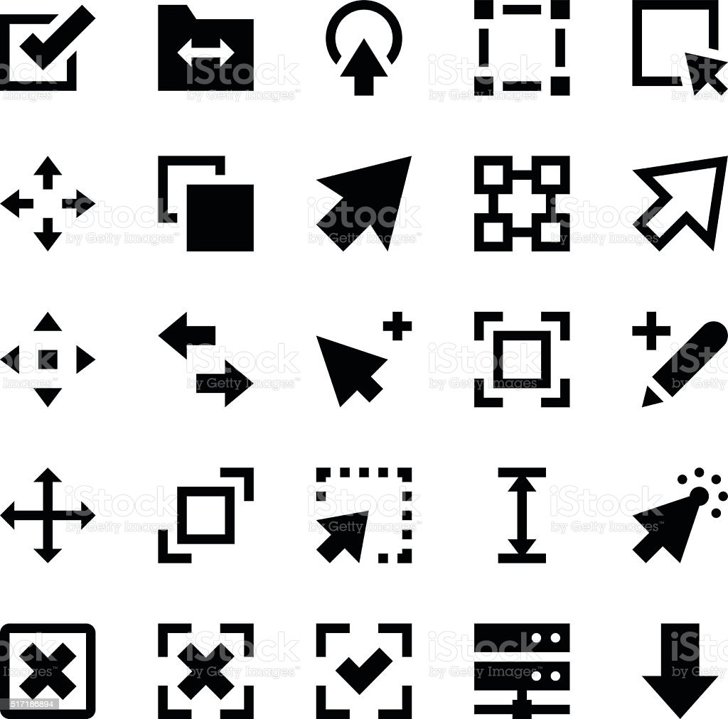 Controls and Navigation Arrows Vector Icons 1 vector art illustration