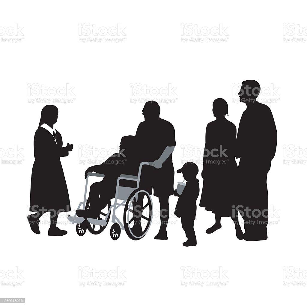 Convalescence vector art illustration