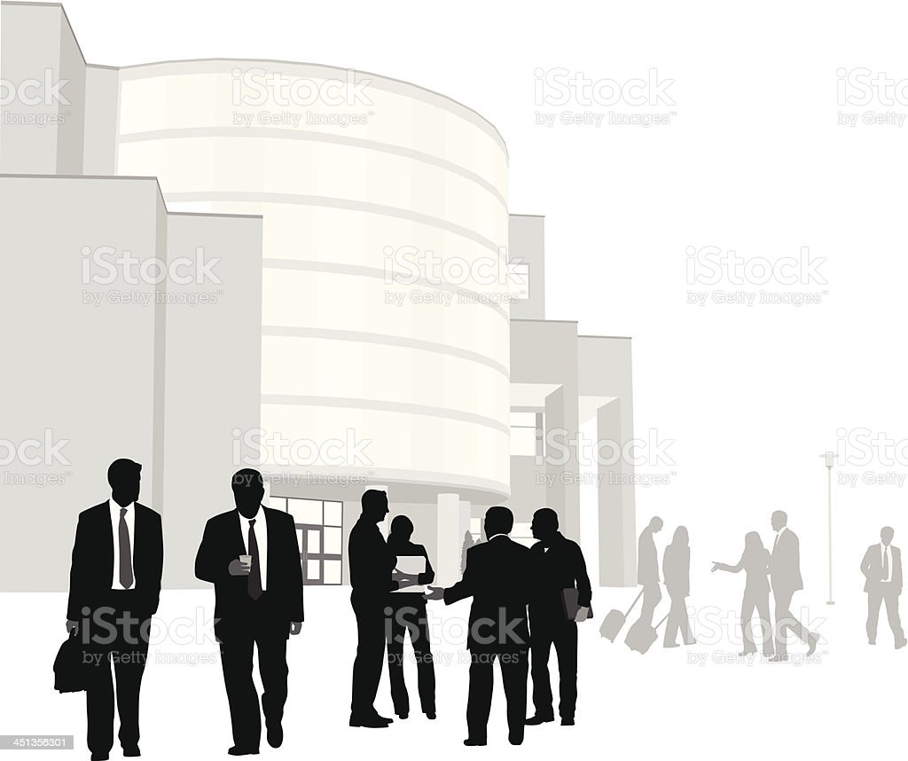 Convention Center royalty-free stock vector art