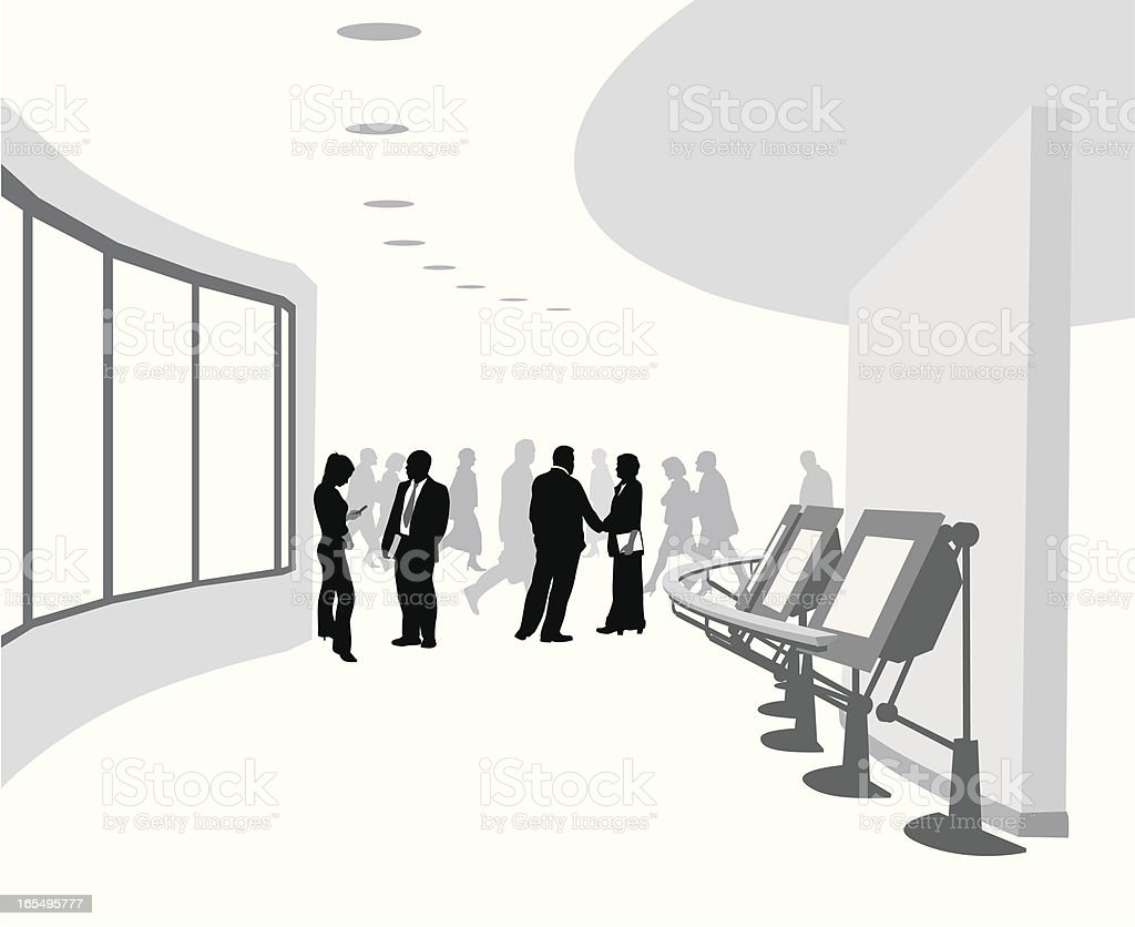 Convention Center Vector Silhouette royalty-free stock vector art