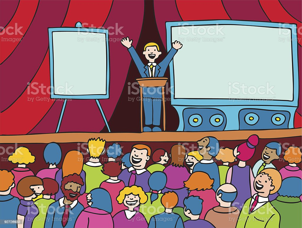 Convention Event royalty-free stock vector art