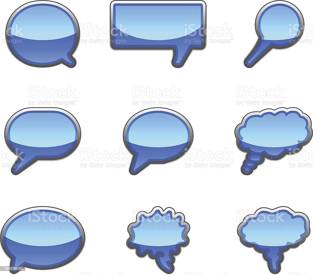 Conversation bubble icon collection royalty-free stock vector art