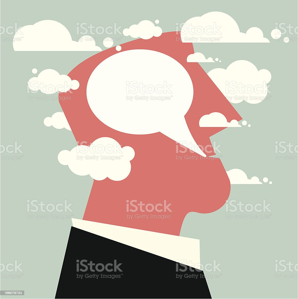 Conversation Clouds royalty-free stock vector art