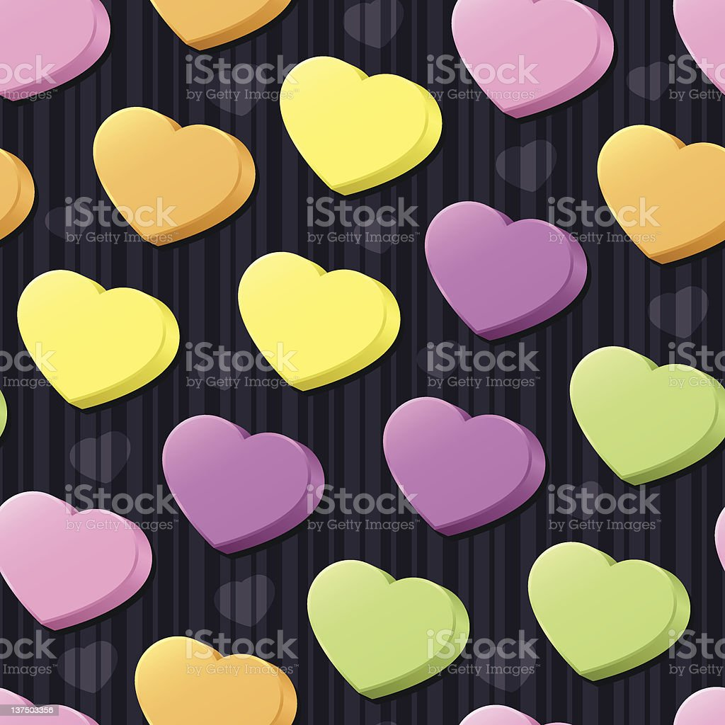 Conversation Hearts Seamless Tile vector art illustration