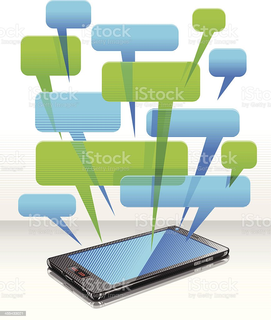 Conversation in Smart Phone royalty-free stock vector art