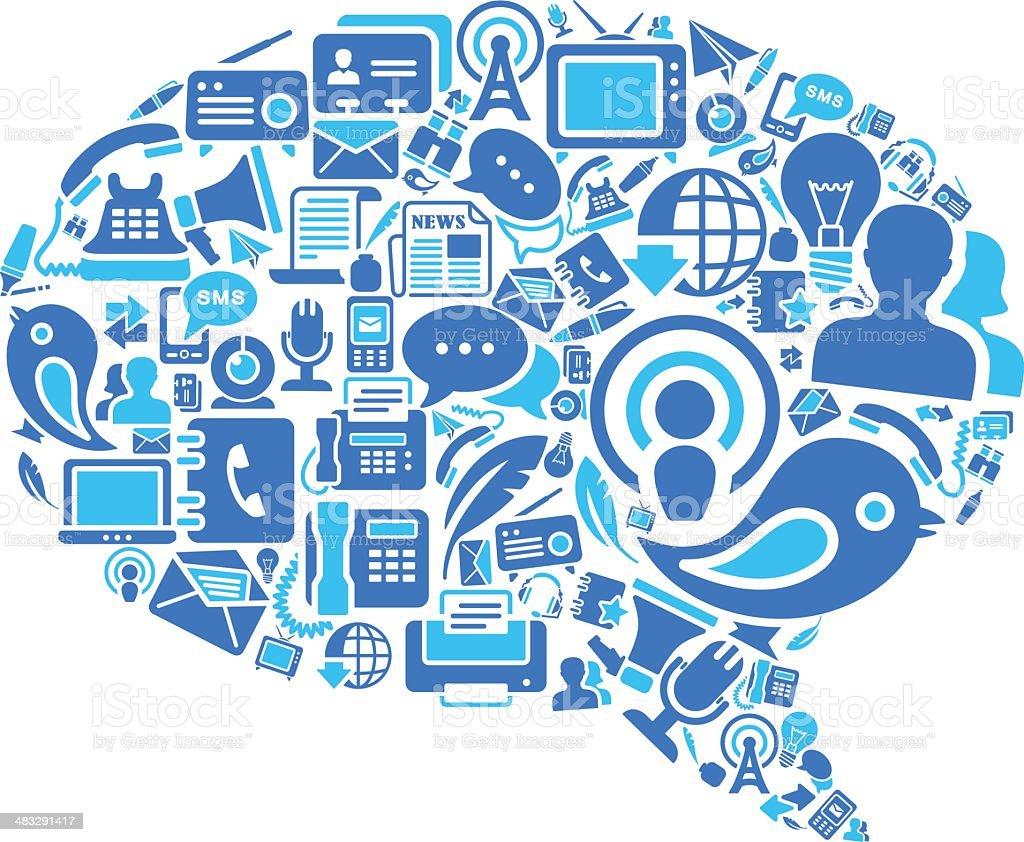Conversation Speech Bubbles royalty-free stock vector art
