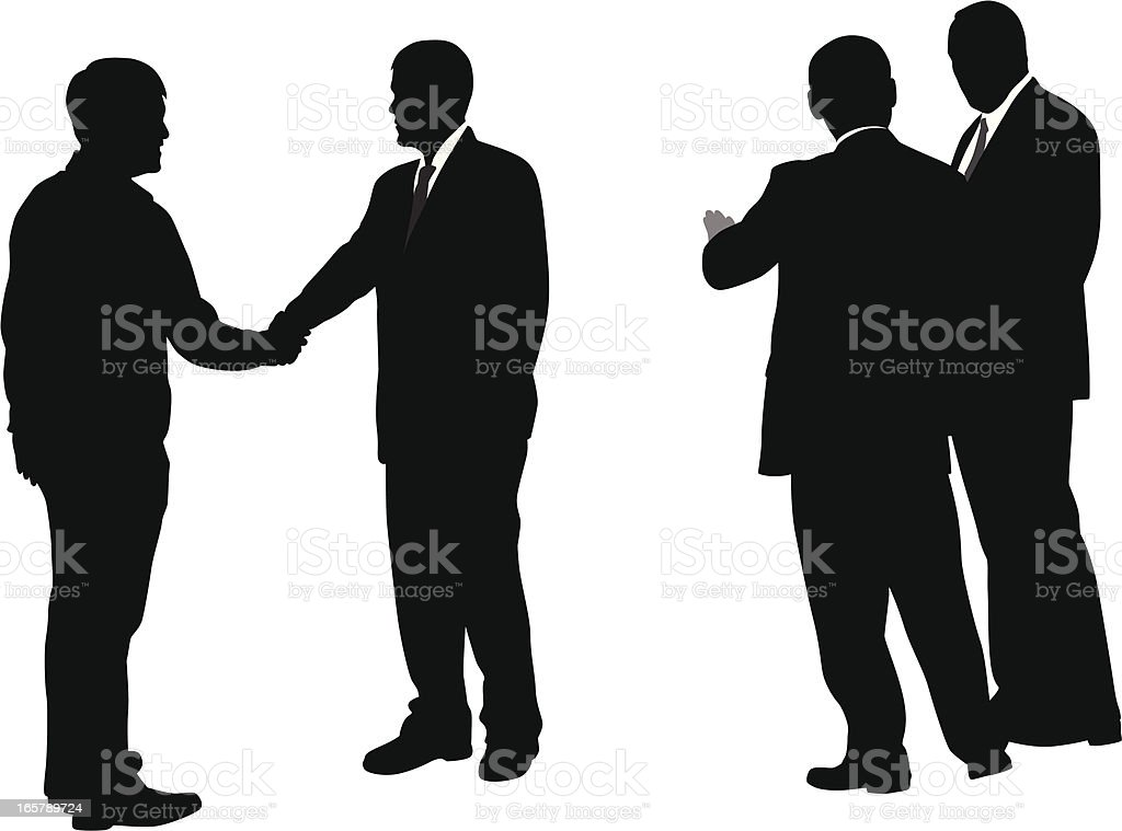 Conversations Vector Silhouette royalty-free stock vector art