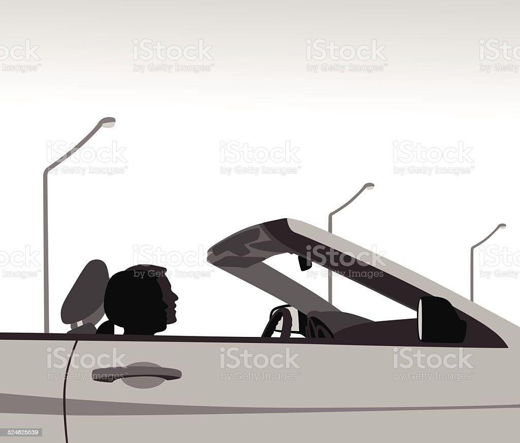 Convertible vector art illustration