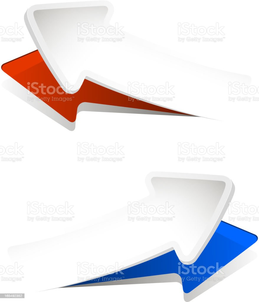 convex arrows royalty-free stock vector art