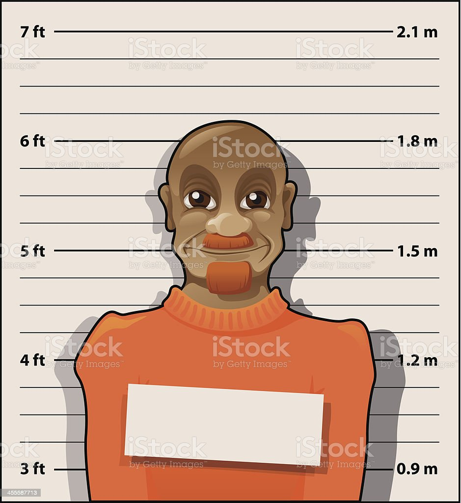 convict - average joe royalty-free stock vector art