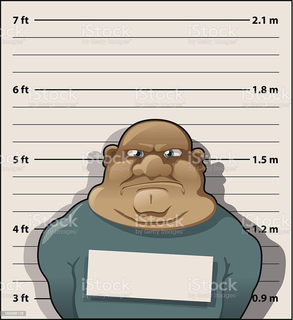 Convict Thug royalty-free stock vector art
