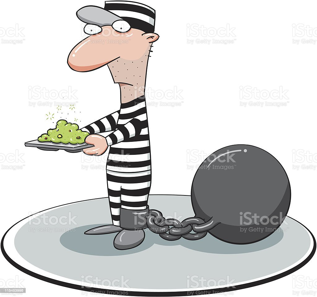 Convicted royalty-free stock vector art