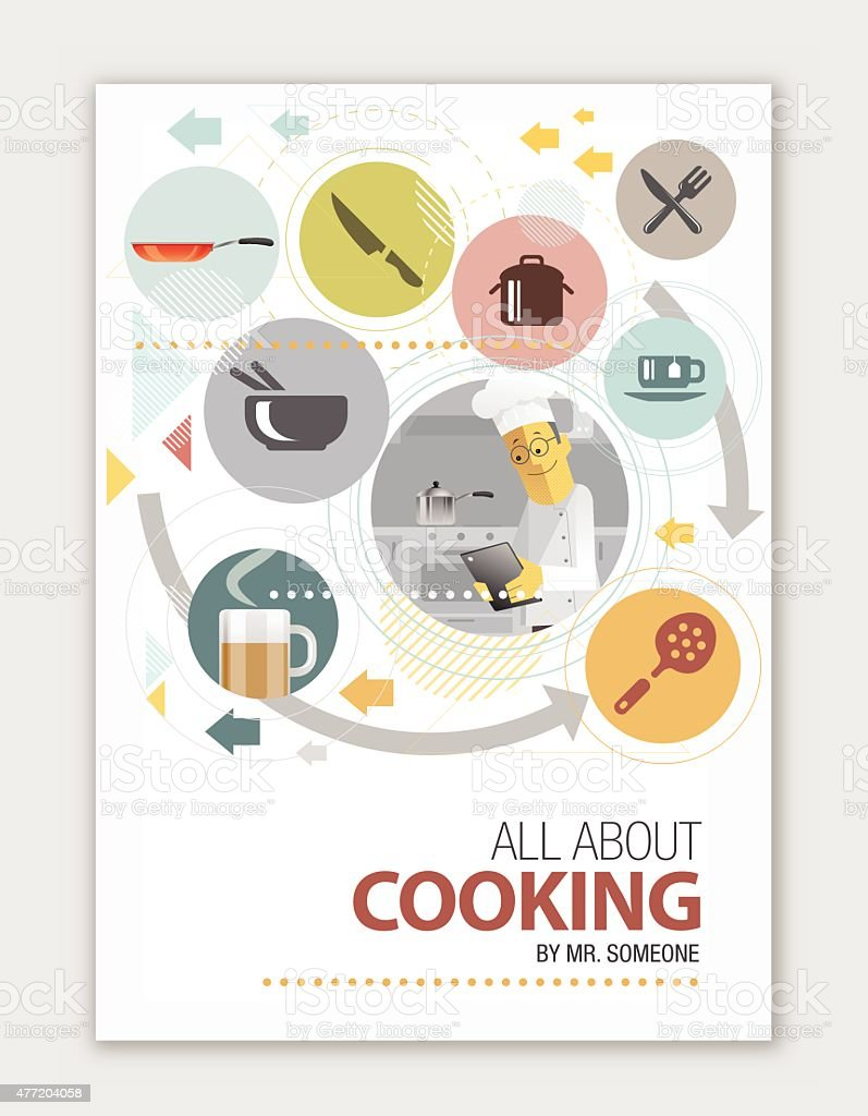Cook Book Cover design vector art illustration