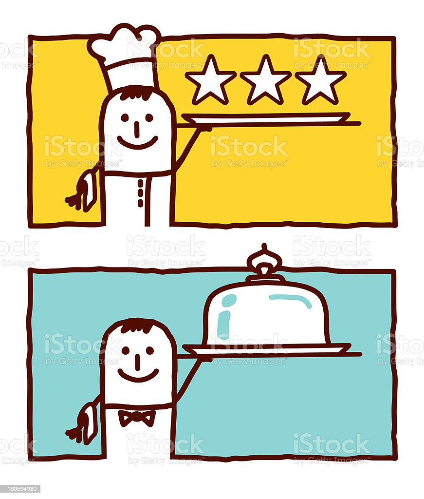 cook chef & waiter service royalty-free stock vector art