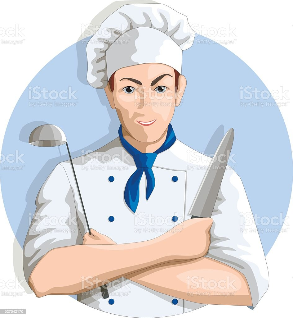 Cook in circle. Vector illustration vector art illustration