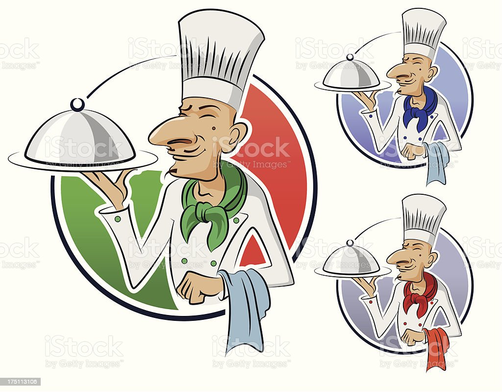 Cook restaurant royalty-free stock vector art