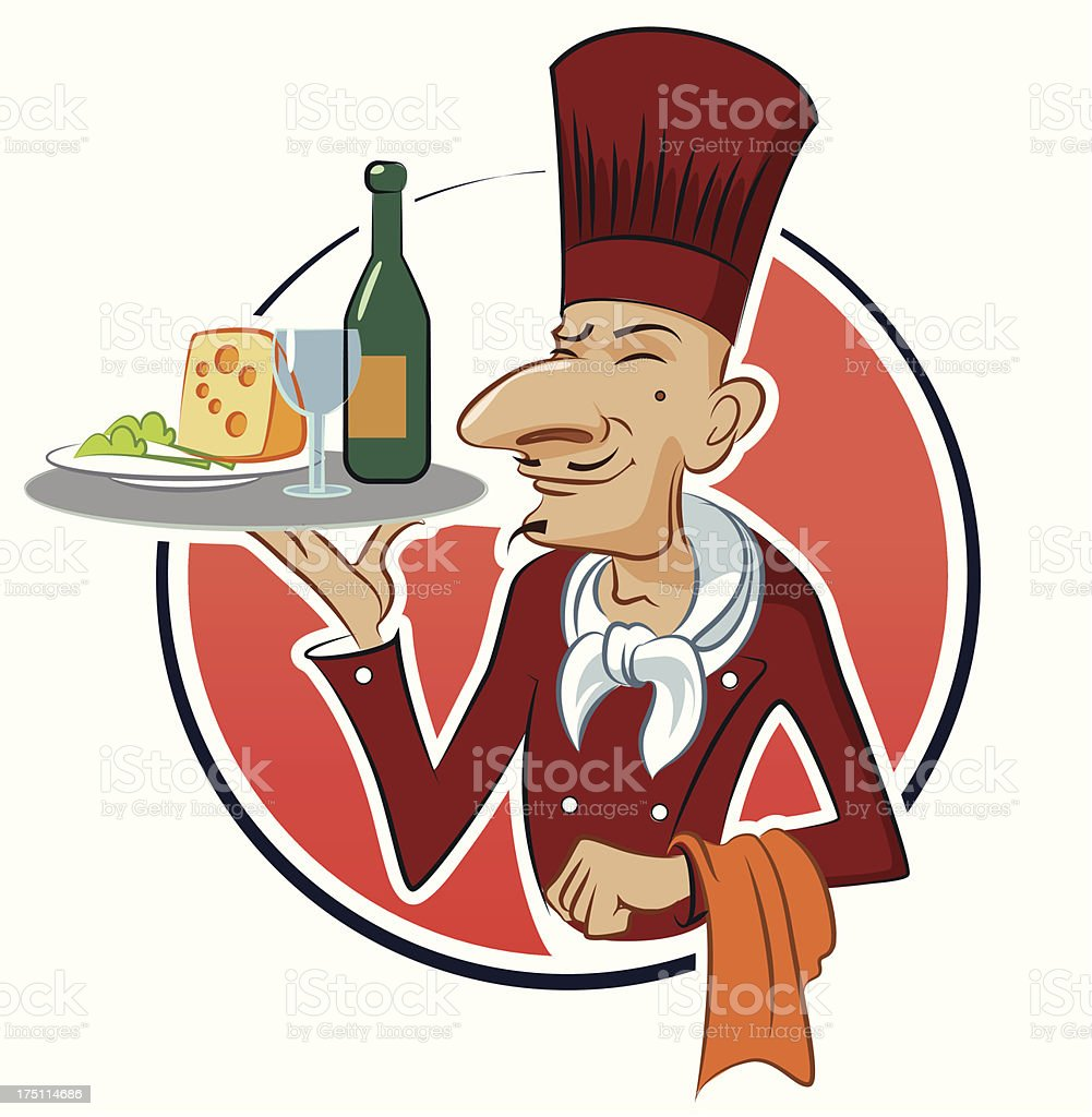 Cook restaurant royalty-free stock vector art