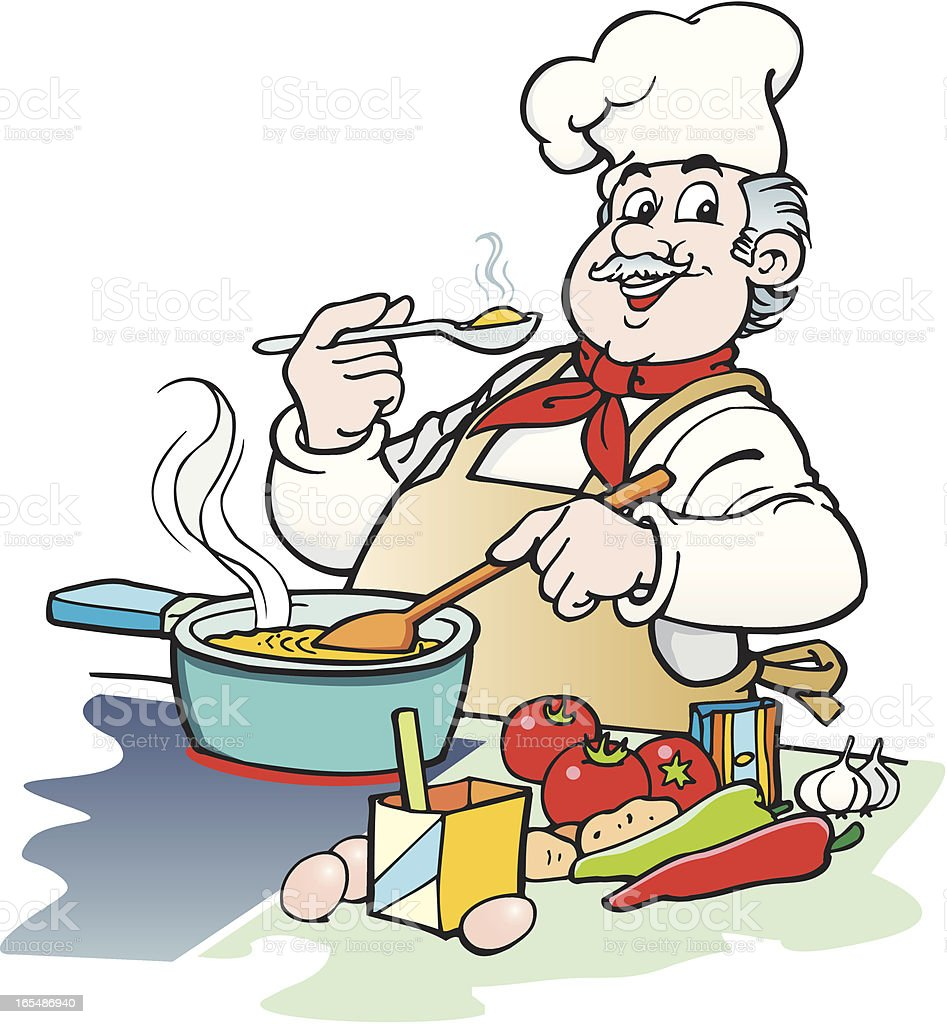 Cook vector art illustration