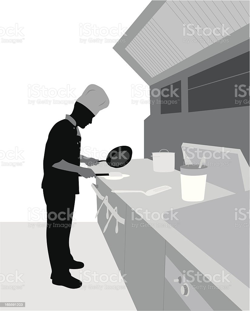 Cook Vector Silhouette vector art illustration