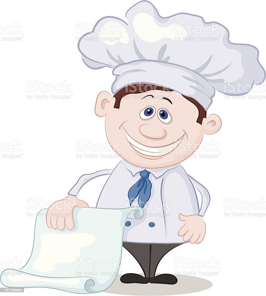 Cook with blank for your text royalty-free stock vector art