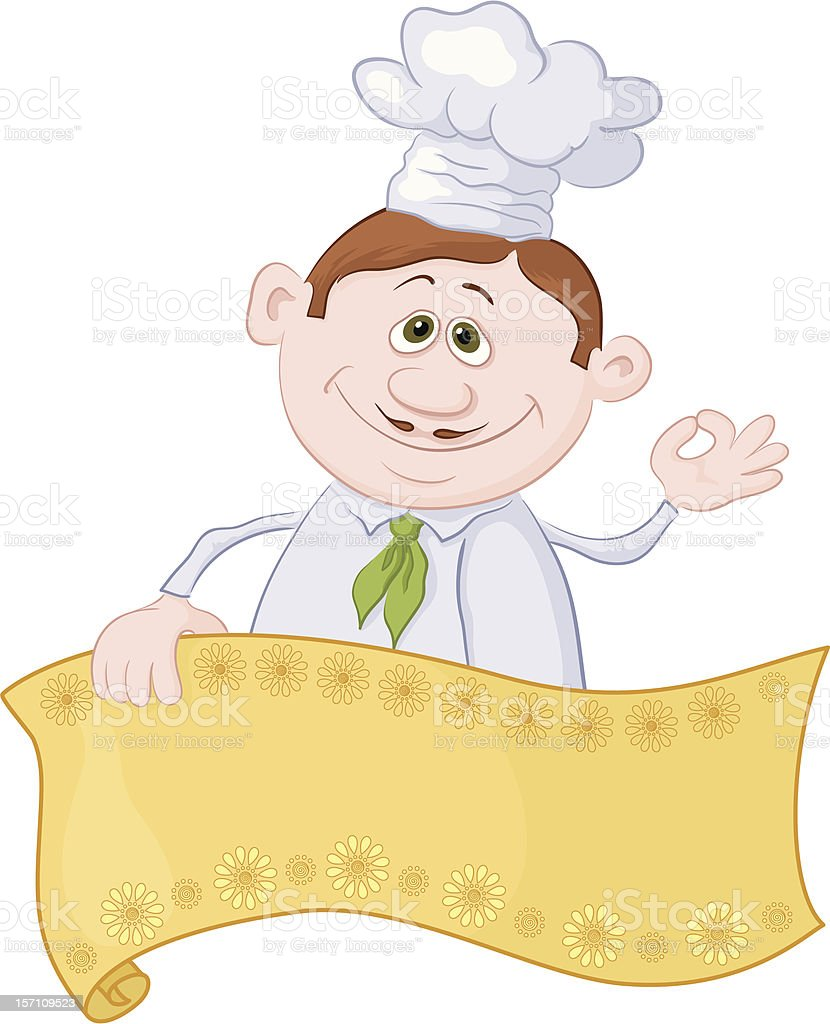 Cook with poster royalty-free stock vector art
