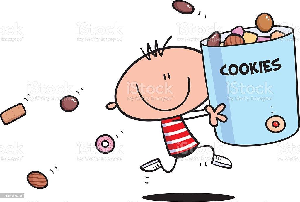 Cookie Boy vector art illustration