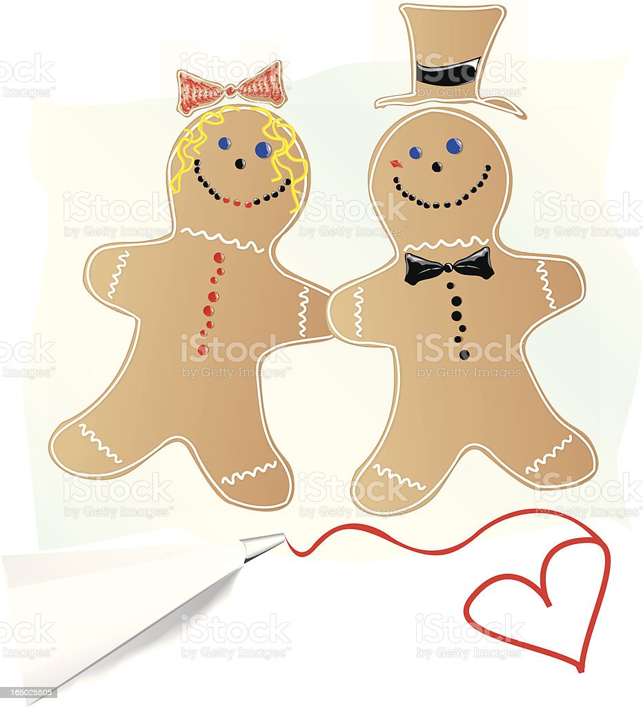 Cookie Cutter Couple royalty-free stock vector art