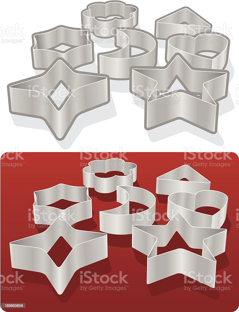 Cookie Cutters vector art illustration