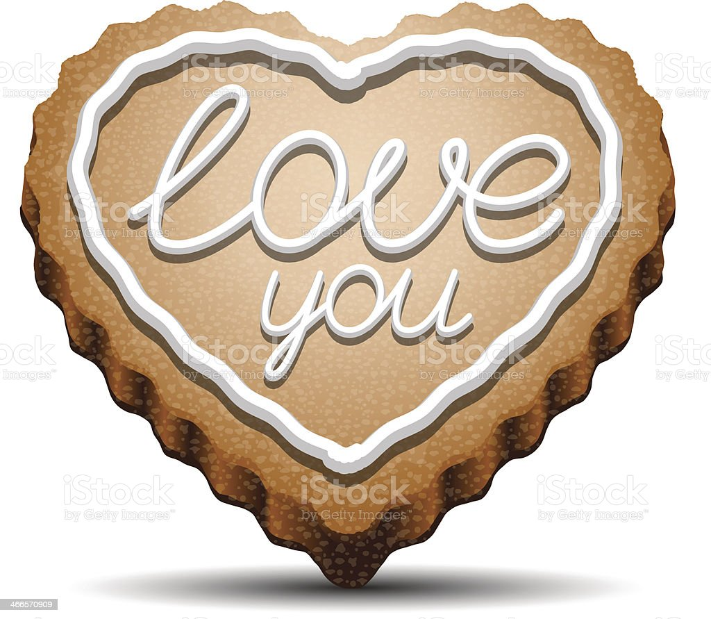 Cookie for Valentine's Day vector art illustration